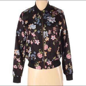 Hippie Rose Bomber Floral Zip Up jacket XS